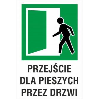 tabliczka Przejście dla pieszych przez drzwi ZB08