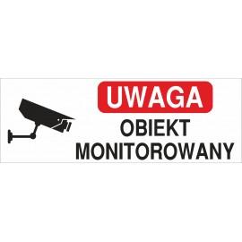 Naklejka uwaga obiekt monitorowany O13
