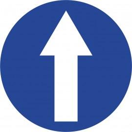 Naklejka znak nakazu C-5  Nakaz jazdy prosto