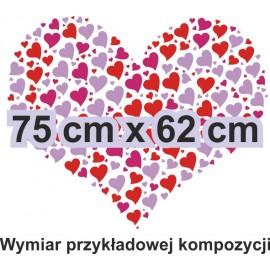 Naklejka dekoracyjna - SF34 serca