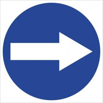 C-1 Nakaz skrętu w prawo przed znakiem