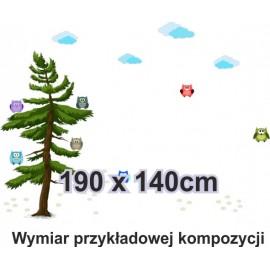 Naklejka ścienna SD27 sowy na drzewie