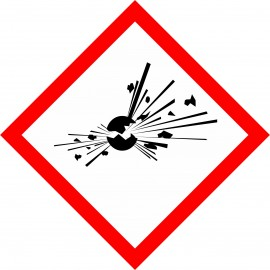 Naklejka Piktogram GHS01-N - Materiały wybuchowe