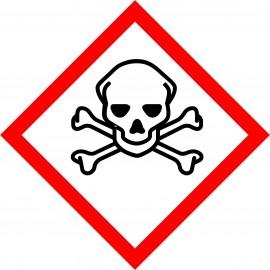Naklejka Piktogram  GHS06 - Substancje bardzo toksyczne