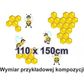 Naklejka ścienna SD28 pszczółki