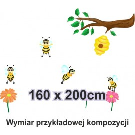 Naklejka ścienna SD29 pszczółka