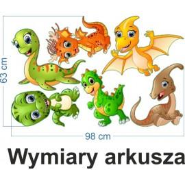 Naklejka ścienna SD37 dinozaury