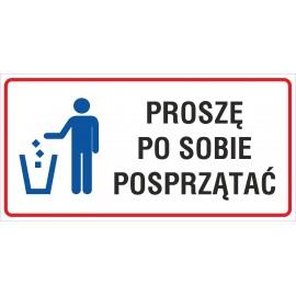naklejka INZP14 proszę po sobie posprzątać