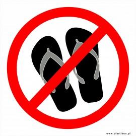 IN 33 zakaz wchodzenia w klapkach do sauny, jacuzzi, wanny, brodzika itp