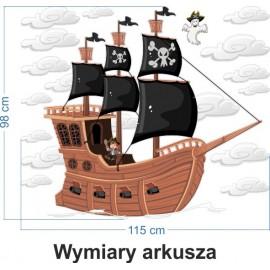 Naklejka ścienna SD43 statek piracki