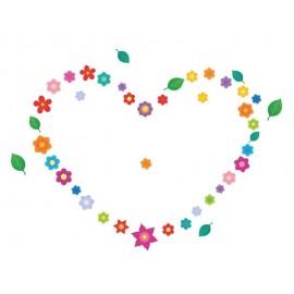 Naklejka ścienna SDE05 Kwiaty, serce