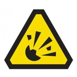 Naklejka ścienna dekoracyjna DE01 uwaga materiały wybuchowe