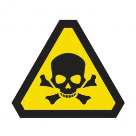 Naklejka ścienna dekoracyjna DE04 uwaga substancje toksyczne