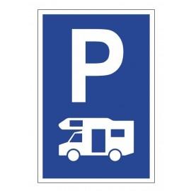 Tabliczka znak parking dla kamperów PE01