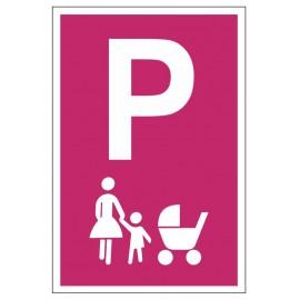 Tabliczka znak Parking dla matki z dzieckiem PE02a