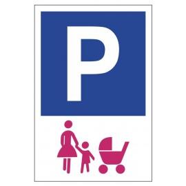 Tabliczka znak Parking dla matki z dzieckiem PE02b