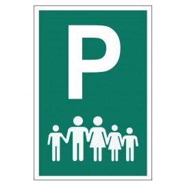 Tabliczka znak Parking dla dużej rodziny PE03a