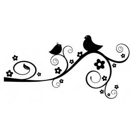 Naklejka dekoracyjna - SFE02a Ptaki na gałęzi