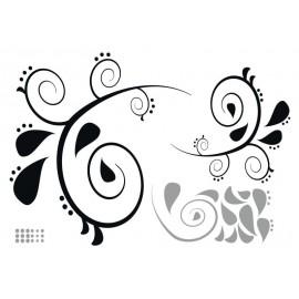 Naklejka dekoracyjna, ścienna - SFE04 Motywy roślinne