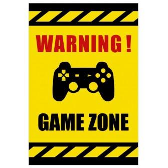 Tabliczka Warning Game Zone USGE03 Strefa gracza