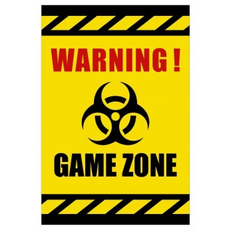 Tabliczka Warning Game Zone USGE04 Strefa gracza