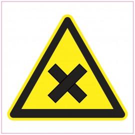 Naklejka Piktogram UK02 Uwaga! Substancje i preparaty szkodliwe lub drażniące