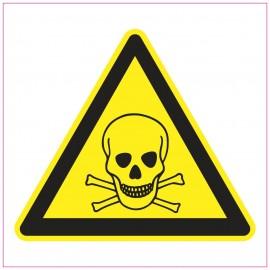 Naklejka Piktogram UK03 Ostrzeżenie przed niebezpieczeństwem zatrucia substancjami toksycznymi