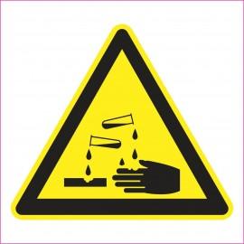 Naklejka Piktogram UK04 Ostrzeżenie przed substancjami żrącymi