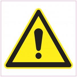 Naklejka Piktogram UK05 Uwaga niebezpieczeństwo