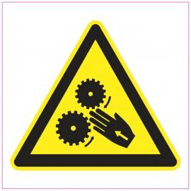 Naklejka Piktogram UK06 Uwaga! Niebezpieczeństwo wciągnięcie ręki.