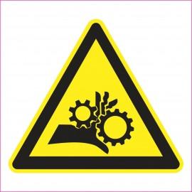 Naklejka Piktogram UK08 Uwaga, wirujące elementy