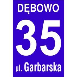 Tabliczka adresowa na posesję, dom OB08