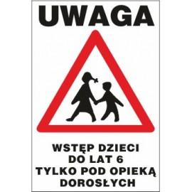 tabliczka dzieci pod opieką DPO04 idące dzieci