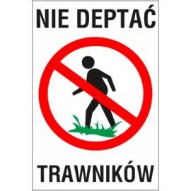 tabliczka nie deptać ND01 nie deptać trawników