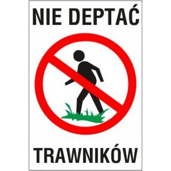 nie deptać ND01 nie deptać trawników