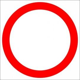 B-1  Zakaz ruchu w obu kierunkach Znak drogowy B1
