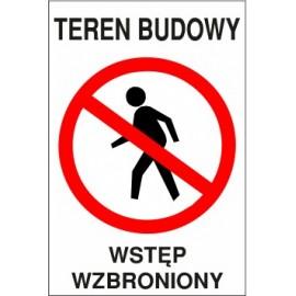 teren budowy TB01 wstęp wzbroniony
