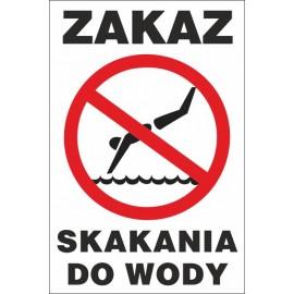 tabliczka zakaz skakania do wody ZK04 c. woda