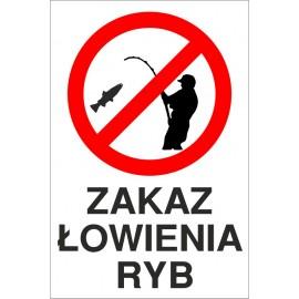 tabliczka zakaz łowienia ryb ZŁ02 z rysunkiem wędkarza