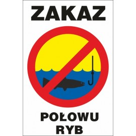 tabliczka zakaz połowu ryb ZŁ04