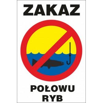 zakaz łowienia ryb ZŁ03 pozioma tabliczka