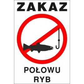 zakaz połowu ryb ZŁ05 bez wody