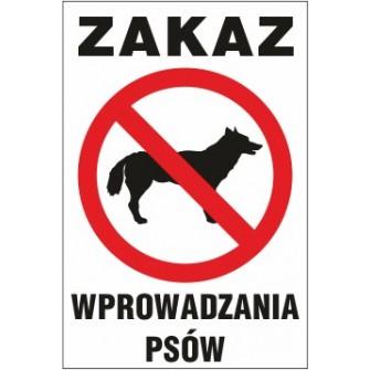 zakaz Z01 zakaz wprowadzania psów