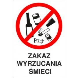 tabliczka Z03 zakaz wyrzucania śmieci