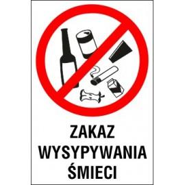 tabliczka Z04 zakaz wysypywania śmieci