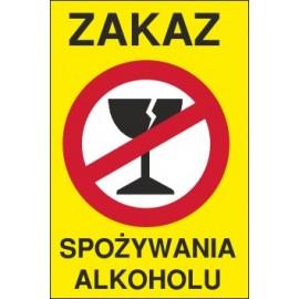 tabliczka zakaz spożywania alkoholu ZA03