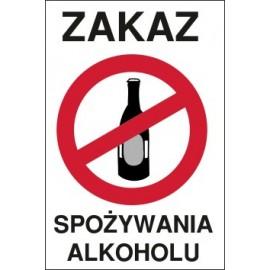 tabliczka zakaz spożywania alkoholu ZA04 butelka