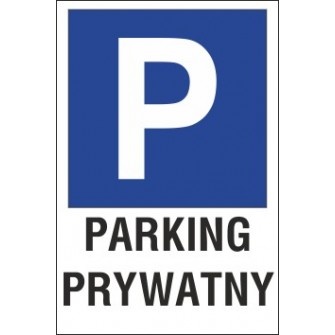 znak parking P14 parking prywatny