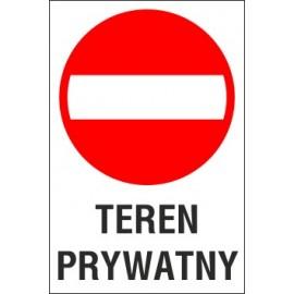 tabliczka zakaz wjazdu ZW03 teren prywatny