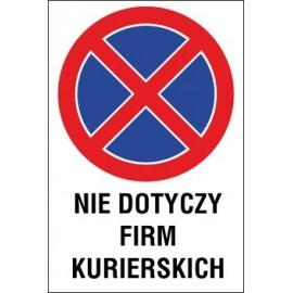 zakaz zatrzymywania i postoju ZZP04 nie dotyczy firm kurierskich
